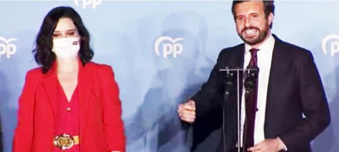 Casado: 'Ha ganado la libertad. Ayuso seguirá siendo la presidenta que merece Madrid'