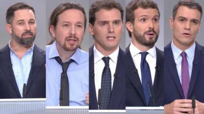 Sánchez aleja la coalición con Iglesias, las derechas se enzarzan y Abascal hace xenofobia en prime time