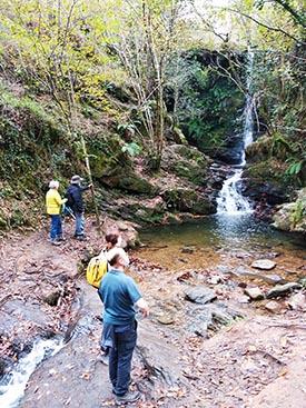 Las Cascadas de Lamiña, importante atractivo turístico del valle de Cabuérniga