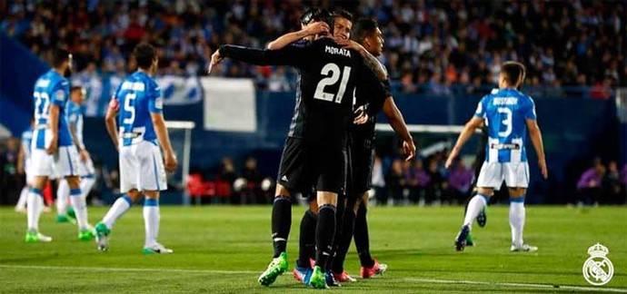 Con gol de James Rodríguez, el Real Madrid vence 4-2 al Leganés
