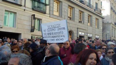 Imagen de archivo de una manifestación contra la subida del 0,25% de las pensiones durante el Gobierno de Rajoy.LAURA OLÍAS