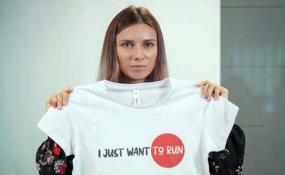La velocista bielorrusa Krystsina Tsimanouskaya recién llegada a Polonia