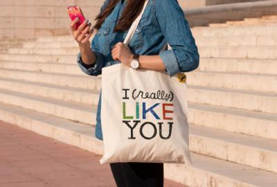 Las bolsas ecológicas de tela (y personalizas), son la nueva moda