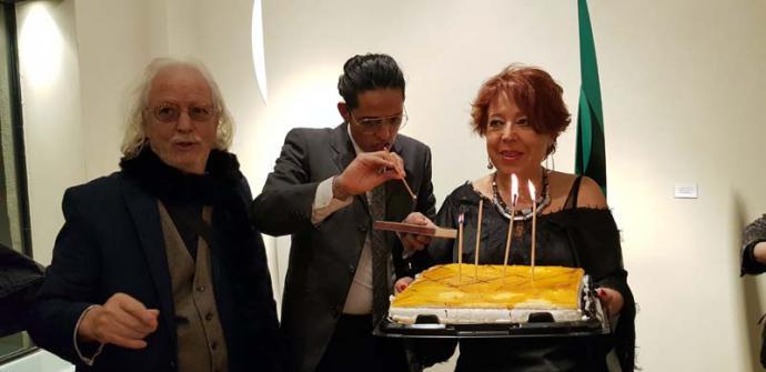 Amparo Ruiz de Ayllón, 65 años entre amigos y música en la galería Pop/Arte de Madrid