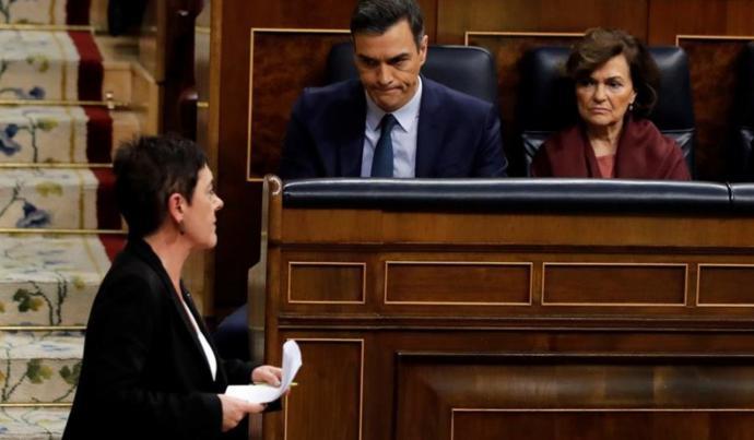 La intervención de Bildu, respondida en el Congreso con gritos de 'asesinos' y 'terroristas'