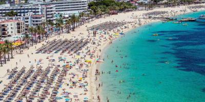 Playa de Magaluf en Mallorca