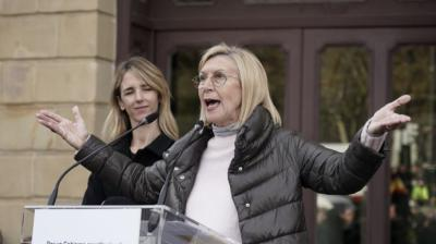 Rosa Díez en un acto del grupo Libres e Iguales en Bilbao en 2019.H. Bilbao / Europa Press