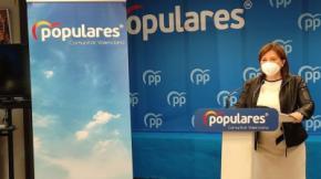 Isabel Bonig en la rueda de prensa en la que ha anunciado que renuncia al acta de diputada en las Corts.