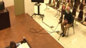Andrino, sentado detrás de Peña este miércoles en el juicio