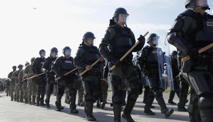 Caravana de migrantes: así esperan los soldados de Estados Unidos en la frontera con México