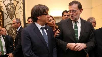Carles Puigdemont y Mariano Rajoy, en una foto de archivo.
