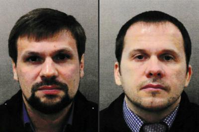 Ruslan Boshirov (izquierda) y Alexander Petrov (derecha) son los principales sospechosos del ataque a los Skripal realizado en marzo de 2018 en Reino Unido.