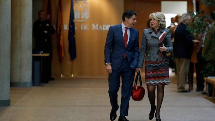Ignacio González y Esperanza Aguirre en una imagen de arechivo