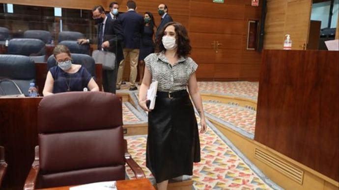 Isabel Díaz Ayuso, presidenta de la CAM