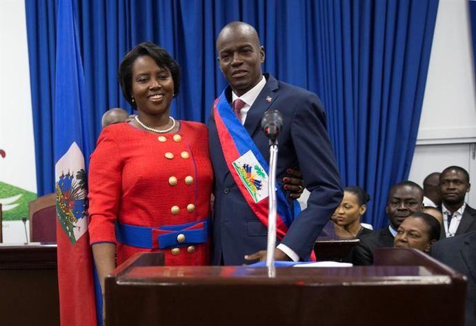 El presidente de Haití, Jovenel Moïse y la primera dama, Martine Moïse, en una imagen de archivo