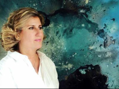 Marina Gadea, ganadora del I Certamen Internacional de Pintura Abstracta Mario Saslovsky