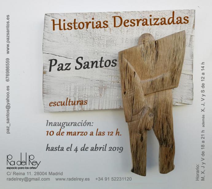 Paz Santos expone sus esculturas en la galería Ra del Rey