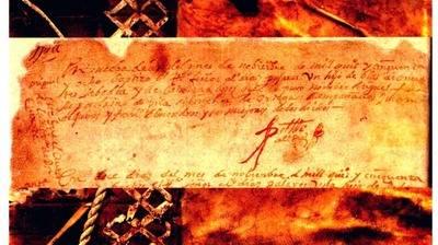 Acta de nacimiento de Cervantes