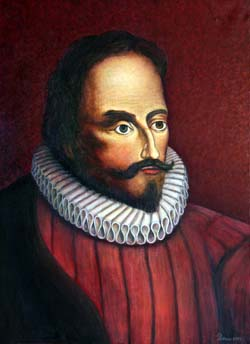 Cervantes. Pintura de E. Pedrero
