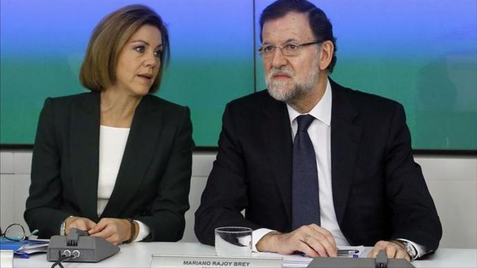 María Dolores de Cospedal y Mariano Rajoy en una imagen de archivo