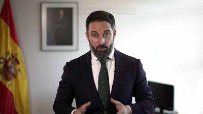 Santiago Abascal, líder de VOX cree que Sánchez quiere liquidar el actual sistema de gobierno español (captura de pantalla)