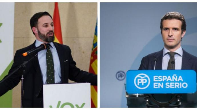 Casado defiende que Vox 'está dentro de la Constitución' y que Sánchez es un 'radical de izquierdas'