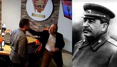 Periodistas pelean al discutir sobre Stalin y la II Guerra Mundial (Foto: Captura)