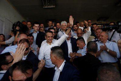 Triunfo de la derecha de Nueva Democracia, con su líder  Kyriakos Mitsotakis