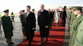 Juan Carlos I, junto a Corinna Larsen, en un viaje privado a Alemania en febrero de 2006Korpa / Gtres