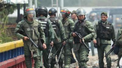 La Guardia Nacional Bolivariana se despliega en torno al Parlamento venezolano