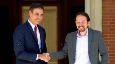 Iglesias, muy 'optimista' tras reunirse con Sánchez, aunque no aclara si será posible un Gobierno de coalición