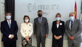 La embajadora de Costa Rica visita la Cámara de Comercio de Málaga