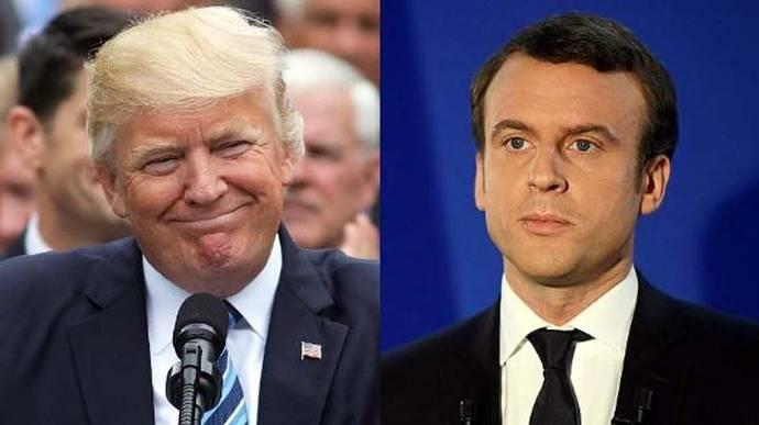 Trump felicita a Emmanuel Macron por su