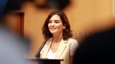 Isabel Díaz Ayuso. presidenta de la Comunidad de Madrid
