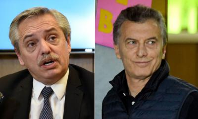 Fernández (i) y Macri