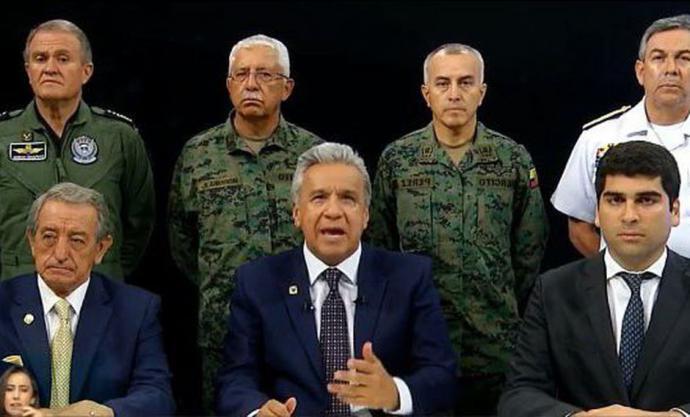 Ecuador: Lenin Moreno muda el Ejecutivo a Guayaquil y acusa a Maduro y Correa de querer desestabilizar al país