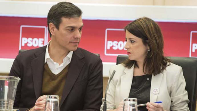 Pedro Sánchez junto a Adriana Lastra en una imagen de archivo.BORJA PUIG (PSOE)