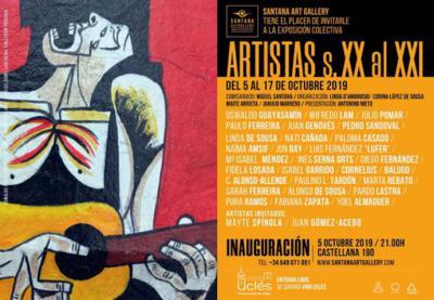 """""""Artistas siglo XX al XXI"""" exponen en la galería de Miguel Santana en Madrid"""