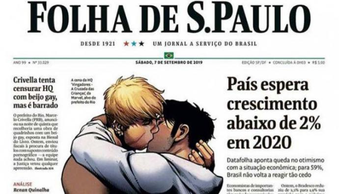 El mayor diario de Brasil publica en portada el cómic censurado por alcalde de Río