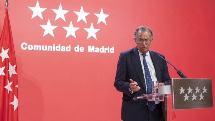 El portavoz de la Comunidad de Madrid, Enrique Ossorio.