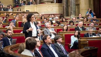 La portavoz de Junts pel Sí en el Parlament, Marta Rovira, durante el pleno de este jueves ©SANDRA LÁZARO