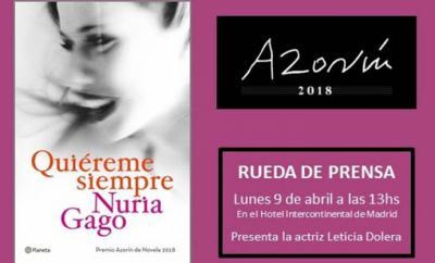 "Nuria Gago, autora de la novela ""Quiéreme siempre"", editada por Planeta"
