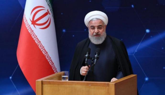 El presidente de Irán, Hassan Rounani emitió sus declaraciones durante una ceremonia para conmemorar el Día Nacional de Tecnología Nuclear en Teherán.