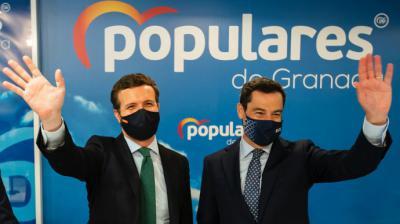 Pablo Casado y Juan Manuel Moreno Bonilla, este viernes, en GranadaDavid Mudarra / PP