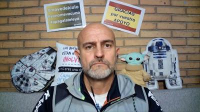 Rafael Navarro, el policía de Alicante negacionista con el coronavirus.