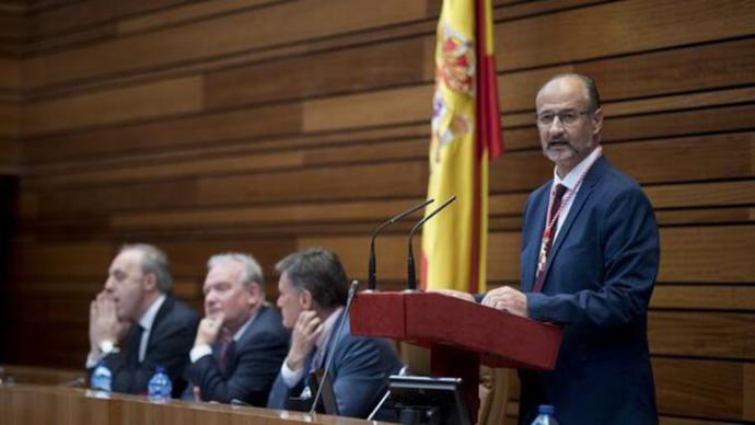 El presidente de las Cortes de Castilla y León, Luis Fuentes