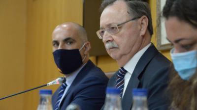El presidente de Ceuta, Juan Vivas, junto al hasta ahora vicepresidente de la Cámara, Francisco Ruiz, de Vox.