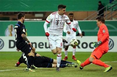 Robert Lewandowski, delantero del Bayern Múnich.