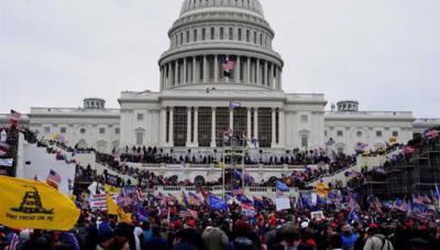 Partidarios de Trump, frente al Capitolio, el pasado 6 de enero