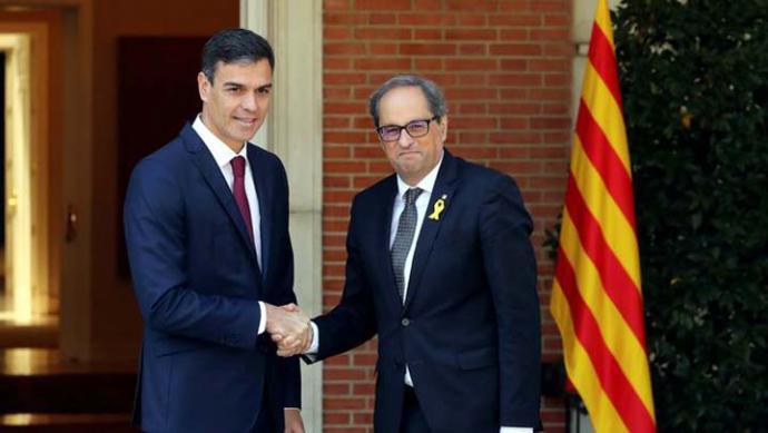 Torra agradece a Sánchez poder 'hablar de todo' aunque no renuncia a 'ninguna vía' para lograr la independencia